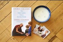 "Become A #ForceForGood / In ""A Force for Good: The Dalai Lama's Vision for Our World"", the Dalai Lama with the help of his long time friend and New York Times bestselling author Daniel Goleman, explains how to turn our compassionate energy outward, transforming the world in practical and positive ways. Prosperity Candle is one of these forces mentioned in the book. And you too can become a #ForceForGood! Enter our contest, spread the word and take action to do #RealGood."