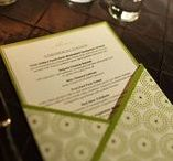 Wedding Menus / Chargers, Pocket Fold, Place Setting, Menu, Belly Band, Family Style