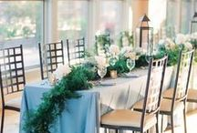 Wedding Head Table Decor / head table centerpieces, garland, candles, romantic, gold, blush, roses, peonies