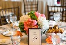 Low Wedding Centerpieces / Centepieces, Floral Arrangement, Peony, Candles, Votives, Wooden Box, Gold, Roses, Romantic