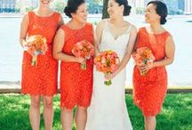 Coral/Orange Weddings / Coral, Orange, Floral, Centerpieces, Ranunculus, Spray Roses, Peonies, Summer, Spring