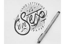 DESIGN // typography / hand lettering / calligraphy / by Katarzyna C