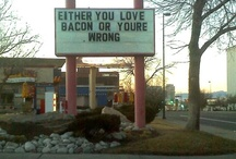 """Bacon Oh How I Love You / Let's face it: bacon makes everything better. """"BACON IS MY FRIEND!"""" / by T. P."""