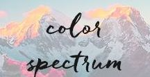 color spectrum. / Our handmade designs are inspired by bright, gorgeous colors.