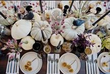 Fall Event Inspiration / Warm fall colors and Halloween decor to inspire!