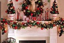 Christmas mantel / ideas for decorating you mantel at Christmas