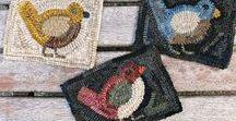 Hooked Rugs / Hooked Rugs, Rug Hooking, Primitive Hooked Rugs, How to Hook Rugs, Primitive Style Rugs, Wool Rugs, How to Dye Wool, Rug Hooking Tips, Rug Hooking Patterns, Hooked Rug Patterns, Hooked Rug, Wool Rugs