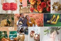 Olive, Coral + Pear / Green, gold, and coral wedding inspiration