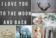 Silver, Evergreen + Slate / Silver and evergreen winter wedding inspiration