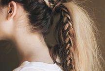 hair / #hair #braids #ponytails #updos #messy #fishtail #milkmaid #bob #plaits #tresses #blowouts #buns #chignons #twists