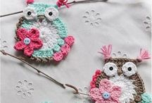 Owls / Owls paper, fabric, crochet etc. etc...