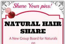"""Natural Hair Share Board / To join the group & share your pins, """"Like"""" the Add Me pin, or leave a comment below it.  Feel free to share your natural hair photos, repins, blog posts etc. / by Crystal Afro"""