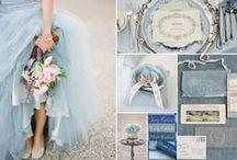 Something 'French' Blue / French blue, dusty blue, indigo blue wedding color Ideas
