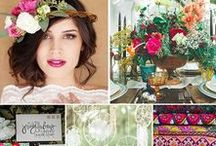 Bohemian Color & Texture / Bohemian, colorful wedding inspiration