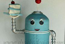 Robot cakes / by Kristi Schultz