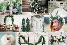Rustic, Romantic Ivory & Green