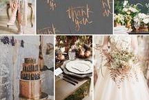 Copper, Slate & Ivory / Copper, slate & ivory wedding colors