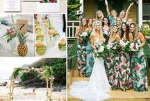 Tropical Color Pop / Tropical inspiration for a colorful beach wedding