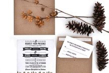 invites / save the dates / by Plaid Poppy