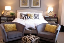 Eclectic Chic / Love throw pillows, bright colors & peacocks accents.