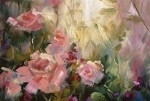 art rose painting / by Cecile Attia