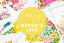 Blooms: Wedding Stationery / | Floral Wedding Stationery, Invitations, Save the date, decor, theme, flowers, bright, summer, botanical, nature, spring |