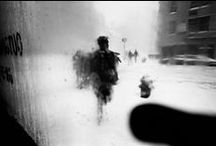 Saul Leiter / Saul Leiter (1923 - 2013)) was an American photographer and painter whose early work in the 1940s and 1950s was an important contribution to what came to be recognized as the New York School. (Source : Wikipedia) / by Michel Faure