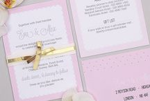 Holly Golightly: Wedding Stationery / Glamorous and feminine stationery range, with shimmering gold foil highlights. Go Audrey!  | Audrey Hepburn Wedding Theme, Inspiration, Holly Golightly, Pink, Blue, place cards, save the date |