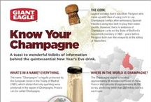 """The Holiday """"Spirit"""" / A Guide to Champagne and other Holiday Drinks / by Giant Eagle"""