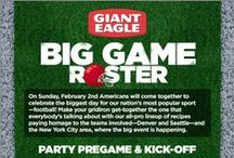 Big Game Day Roster / Denver, Seattle and New York City area-inspired recipes and decor to help you throw a memorable football viewing party for the championship game on February 2, 2014.