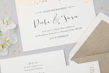Scatter: Wedding Stationery / A scattering of shimmering on-trend rose gold, gold or silver foil detail adorns this collection, beautiful and understated.