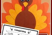 SLP: Thanksgiving Themed Activities / Thanksgiving Themed Speech Therapy Activities. Worksheets, materials, free, printable, games and ideas for Speech Language Pathology in Schools.