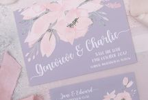 Ethereal: Wedding Stationery / Ethereal Wedding Stationery & Invitations  | Purple Wedding Invitations, Stationery, Invitation Suite, theme, purple and pink flowers, Romantic, floral, elegant, colour combinations |