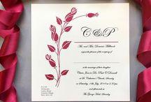 High Society: Wedding Stationery /  #redrosewedding #elegantweddingstationery #luxuryweddinginvitation #valentinesdaywedding #roseweddinginvitation