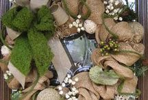 Wrap, ribbon, tags, bags and wreaths / by Jean Walsh-Baquero