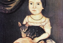 """Cats in Art-18th Century at The Great Cat / """"I love the cat...that independent and almost ungrateful temper which prevents it from attaching itself to anyone; the indifference with which it passes from salon to the house top...The cat lives alone, has no need of society, does not obey except when it likes, pretends to sleep that it may see the more clearly, and scratches everything it can scratch..."""" Chateaubriand (1768-1848) www.thegreatcat.org (https://www.facebook.com/catsinart)"""