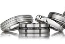 // MEN'S WEDDING BANDS // / An assortment of plain and diamond men's bands.