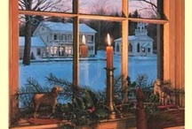 Christmas Charm-Candles in the Window