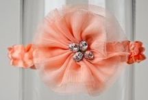 Peach Wedding Garters That Make You Want to Call Your Best Friend And Tell You Have Found Your Garter. / This Board is completely dedicated to peach wedding garters and beautiful things that match them. I designed them in a peach-loving phase that lasted almost four months last summer. Peach is the feminine cousin of orange that everyone was jealous of in high school.  / by La Gartier Wedding Garters
