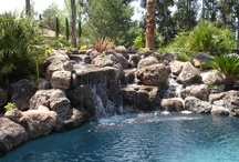 """Waterfalls / Swimming Pools and Waterfalls are wonderful!  """"They relax you, de-stress you and we can all use that!"""""""