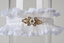 White Lace Wedding Garters / by LaGartierWeddingGarters