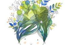 Jolies Illustrations / illustrations, art print, impressions, affiches, aquarelle, watercolor