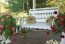 Porch swings... / The perfect place to relax on a cool evening...
