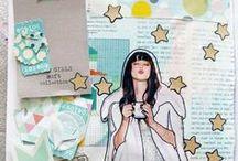 Art Journal / Art Journal, Collage, Mixed Media, Paint,