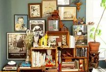 scattered shelves