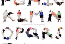 """Gross motor / Move it / Un tronineur qui court maladroitement et nous réalisons que ces habiletés ne sont pas donnés à la naissance elles s'acquirent avec le temps. Pratiquer  permettra à l'enfant de se familiariser avec les règles et le jeu bien sûr, mais aussi de développer ses habiletés physiques naissantes et ainsi le généraliser en transposant de lui-mêmes ses acquis dans d'autres sports. Les """" pins"""" sont des idées simples et faciles à réaliser pour faire bouger les touts-petits.  / by 0gnome0"""