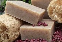 All Natural Handmade Soap / Inspired by our love of nature, we use organic herbs, seeds, flowers, vegetables, fragrant spices, fruits, pure essential oils and purifying clays for their exceptional skin care benefits and to provide natural color, aromatherapy, texture, or gentle exfoliation. Nothing artificial, nothing synthetic, no GMO's, just natural wholesome ingredients.