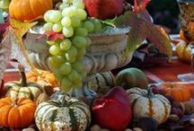 Autumnal tablescapes/dec displays / by Eudonia Primtree