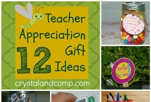 Teacher Appreciation Ideas / by Crystal (crystalandcomp.com)