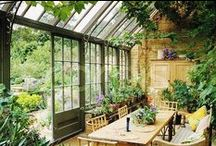 Greenhouses / Inspiration for a nice greenhouse / conservatory / orangerie